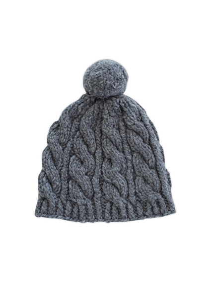 Rum Wool Knit Cap (Charcoal gray)
