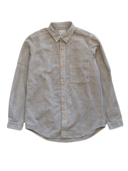 Linen Cotton Work Shirt (Gray)