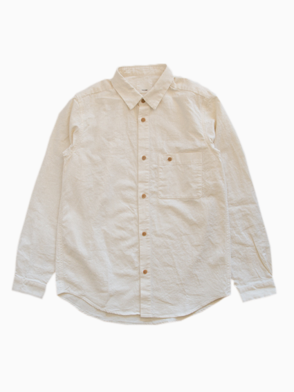 Linen Cotton Pocket Work Shirt (Natural)